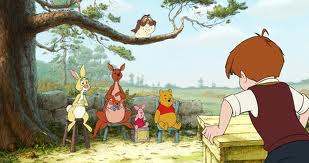 A scene from the new Winnie the Pooh movie