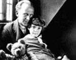 Photograph of A.A. Milne and his son Christopher