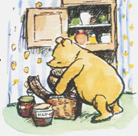 Pooh eating Honey
