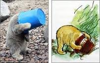Real life bear gets head stuck in a jar