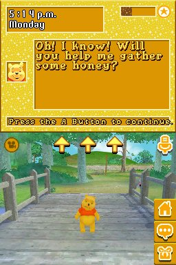 Screenshot from the DS Disney game