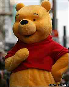 Man in life-size Pooh