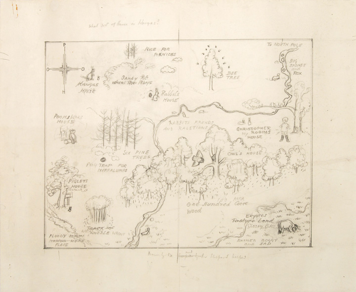 Sketch of the 100 Acre Wood map