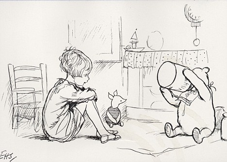 Picture of Pooh and Cristopher Robin