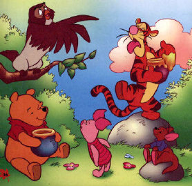 Picture of the whole Pooh family