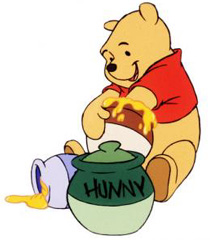 Pooh honey jar