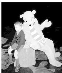 Pooh play with children actors