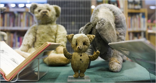 Photo of the real Winnie the Pooh stuffed toys