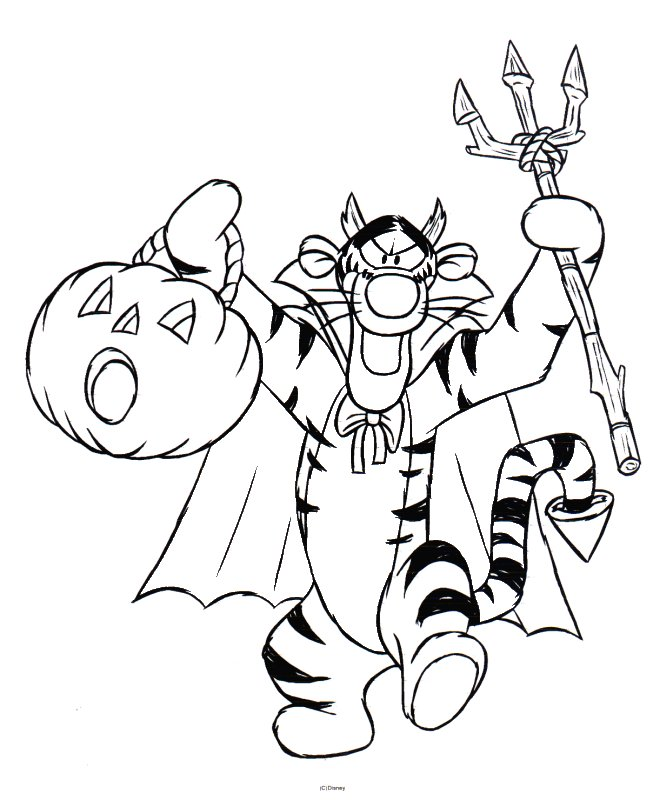 halloween coloring pages tigger - photo#1